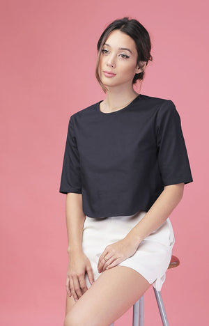 Scallop Top-Navy