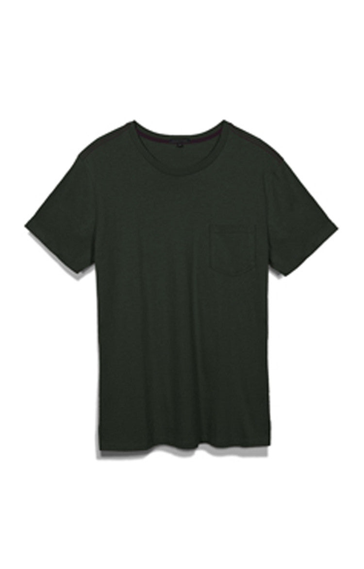 Men's Holiday S/S Pocket Crewneck Tee - Deep Forest