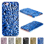Aluminum Foiled Water Wave Blue iPhone 6/6s Case iPhone 6/6s Plus Case 07BL - Apple iPhone Xs/iPhone Xr case by Retina Designs