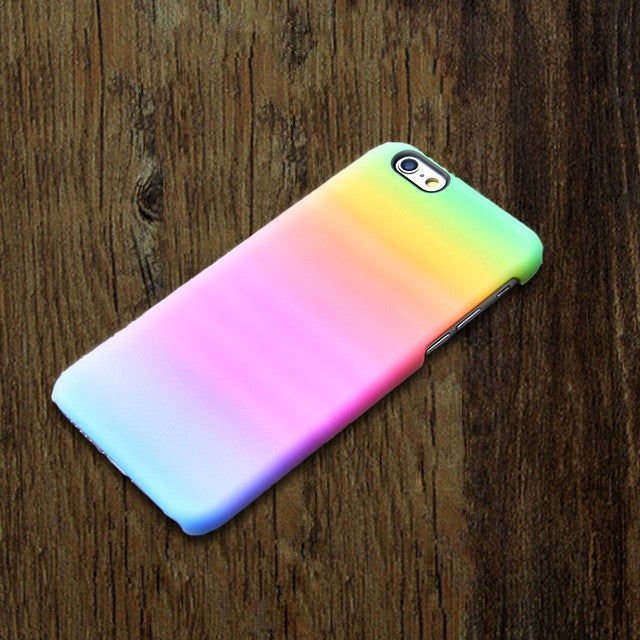 Rainbow Pastel Pink iPhone XR 6 case iPhone XS Max plus case Abstract  SE  4 Case Watercolor Samsung Galaxy  S3 Case 001-1