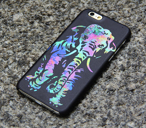 Elephant iPhone XS Max 6s case iPhone XS Max plus iPhone 8  Case Samsung Galaxy S8 S6  Note 3 Case Turquoise and Purple 011 - Apple iPhone Xs/iPhone Xr case by Retina Designs