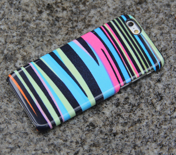 Zebra iPhone XR case Rainbow iPhone XS Max plus Case iPhone 8 SE  Samsung Galaxy S8 S6  Case Pink Blue Black 013 - Apple iPhone Xs/iPhone Xr case by Retina Designs