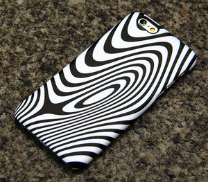Minimalist Wave Stripes iPhone XR case iPhone XS Max plus iPhone 8 SE  Samsung Galaxy S8 S6  Case Black White 014 - Apple iPhone Xs/iPhone Xr case by Retina Designs
