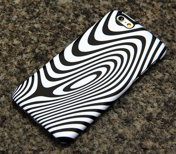 Minimalist Wave Stripes iPhone 6s case iPhone 6 plus iPhone 5S 5 iPhone 5C iPhone 4S Samsung Galaxy S6 edge S6 S5 S4 Case Black White 014