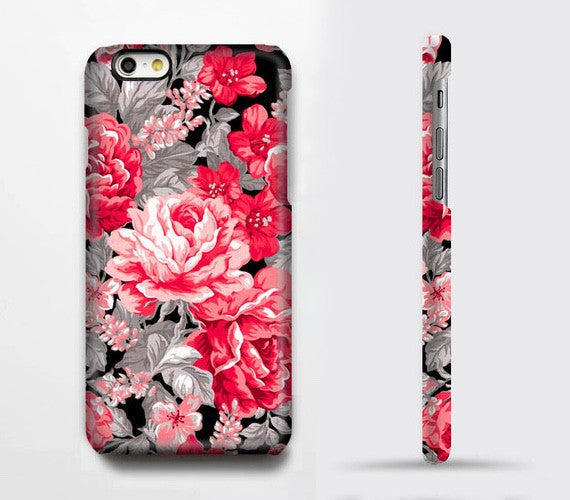Red Roses Floral iPhone XR Tough Case iPhone XS Max plus Case iPhone 5 Case Galaxy Case 3D 018 - Apple iPhone Xs/iPhone Xr case by Retina Designs