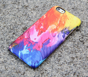 iPhone XS Max Case Abstract Painting Case Watercolor  Case Matte SE Case  Case Samsung Galaxy S5 Case - 02 - Apple iPhone Xs/iPhone Xr case by Retina Designs
