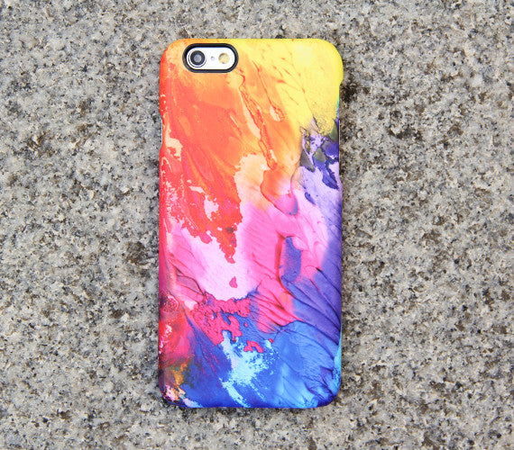 low priced 62782 c7d43 iPhone XS Max Case Abstract Painting Case Watercolor Case Matte SE Case  Case Samsung Galaxy S5 Case - 02