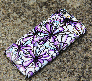Purple Flowers iPhone XR 6 Case Floral iPhone XS Max plus Case iPhone 8 SE Samsung Galaxy S8 S6  S3 Note 2 Note 3 Case 020 - Apple iPhone Xs/iPhone Xr case by Retina Designs