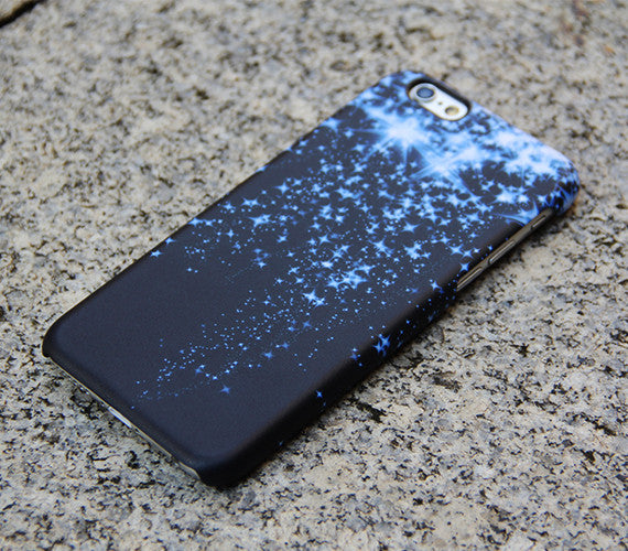 Blue Glitter Style iPhone 6s 6 Case Dancing Stars Galaxy S6 edge S6 S5 S4 Note 3 Case Sparkly iPhone 5S 5 iPhone 5C iPhone 4S/4 Case 021