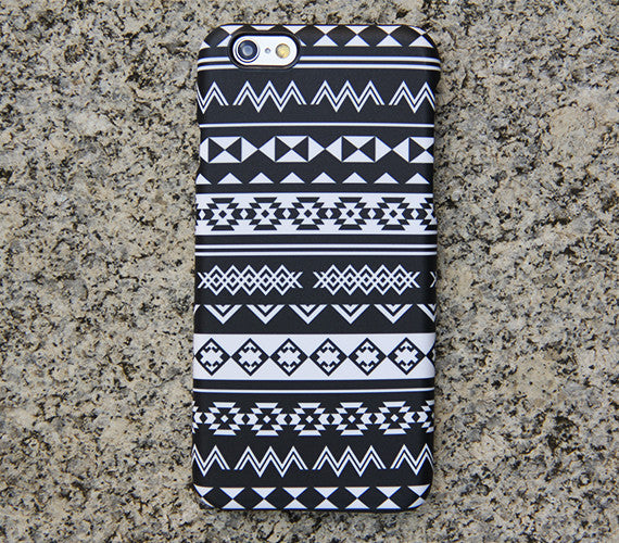 Black White Tribal Ethnic Aztec Galaxy S8 Plus Case Galaxy S7 Case Samsung Galaxy Note 5  Phone Case s6-024 - Apple iPhone Xs/iPhone Xr case by Retina Designs