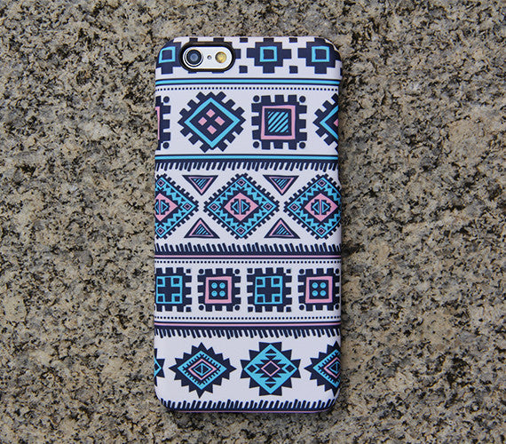 Blue Navajo Tribal iPhone 6s Plus SE Case iPhone 5s Case Galaxy S7 Edge Plus Case 026