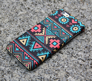 Navajo Aztec iPhone XR Case Geometric Shapes iPhone 8 SE Case Turquoise Samsung Galaxy S8 S6  S3 Note 3 Case 028 - Apple iPhone Xs/iPhone Xr case by Retina Designs