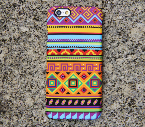 Ethnic Stripes Galaxy S8 SE Case  Case Galaxy S7 Edge Plus Case 030 - Apple iPhone Xs/iPhone Xr case by Retina Designs