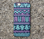 Turquoise Aztec Tribal iPhone XR Case | iPhone XS Max plus Case | iPhone 5 Case | Galaxy Case 3D 034