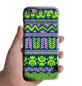 Lime Turquoise Aztec Tribal iPhone XR 6 Case iPhone XS Max plus Case iPhone 8 SE Case Retro Samsung Galaxy S8 S6  Note 3 Case 034lime - Apple iPhone Xs/iPhone Xr case by Retina Designs