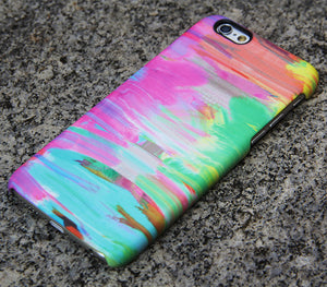 Abstract Painting iPhone SE 6s Case Pink Case Green iPhone 8 SE  Case Blue Samsung Galaxy S8 S6  Note 3 Case 036 - Apple iPhone Xs/iPhone Xr case by Retina Designs