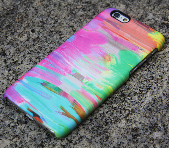 Abstract Painting iPhone SE 6s Case Pink Case Green iPhone 5S 5 iPhone 5C iPhone 4S/4 Case Blue Samsung Galaxy S6 edge S6 S5 S4 Note 3 Case 036