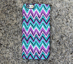 Turquoise Chevron iPhone XR case iPhone XS Max plus Case Violet  SE  4 Case Samsung Galaxy S8 S6  S3 Case 039