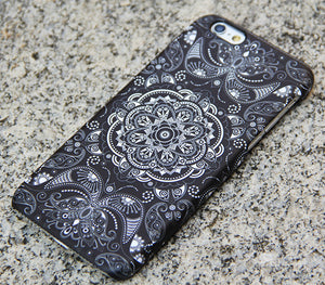Vintage Black Floral iPhone XR Case | iPhone XS Max plus Case | iPhone 5 Case | Galaxy Case 3D 040 - Apple iPhone Xs/iPhone Xr case by Retina Designs
