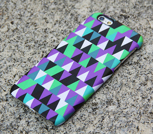 Violet Geometric iPhone XR case iPhone XS Max plus Triangle iPhone 8 SE  Case Green Samsung Galaxy S8 S6  Case 043 - Apple iPhone Xs/iPhone Xr case by Retina Designs