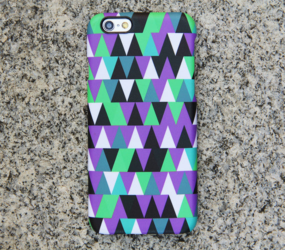 Violet Geometric iPhone XR case iPhone XS Max plus Triangle iPhone 8 SE  Case Green Samsung Galaxy S8 S6  Case 043