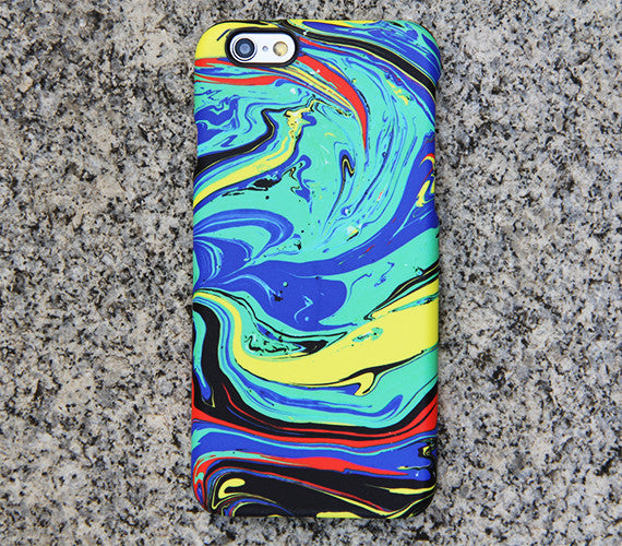 Watercolor Turquoise iPhone XS Max iPhone XS Max plus Case Blue iPhone 8 SE iPhone XR Case Yellow Samsung Galaxy S8 S6  Case 046