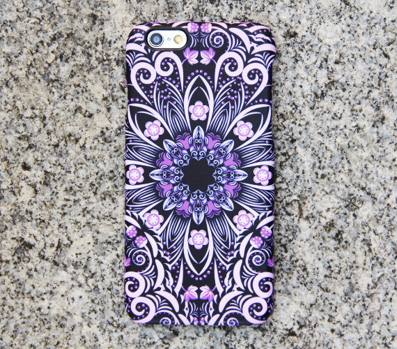 Native Purple Floral iPhone XR Case | iPhone XS Max plus Case | iPhone 5 Case | Galaxy Case 3D 047 - Apple iPhone Xs/iPhone Xr case by Retina Designs