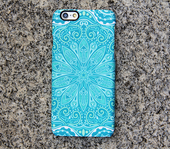 Teal Green Floral Tribal Turquoise Galaxy S8 Plus Case Galaxy S7 Case Samsung Galaxy Note 5  Phone Case s6-050 - Apple iPhone Xs/iPhone Xr case by Retina Designs