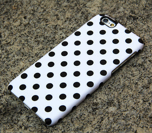 Polka Dots iPhone XR case iPhone XS Max plus Case Black and White iPhone 8 SE  Case Samsung Galaxy S8 S6  Case 052 - Apple iPhone Xs/iPhone Xr case by Retina Designs