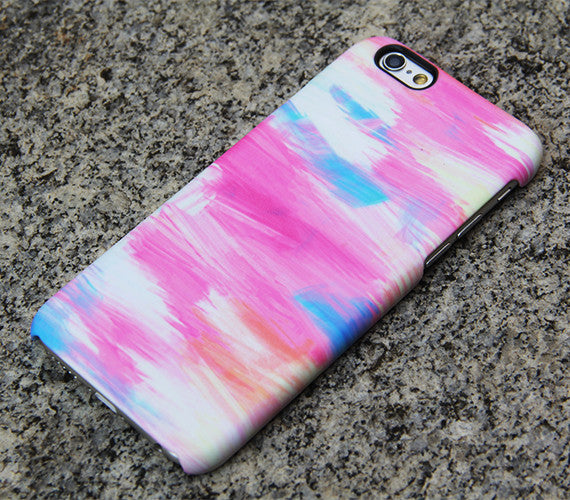 Pink and Blue Panting Phone 6s case iPhone 6 plus Watercolor iPhone 5S 5 iPhone 5C iPhone 4S/4 Case Samsung Galaxy S6 edge S6 S5 S4 Case 055