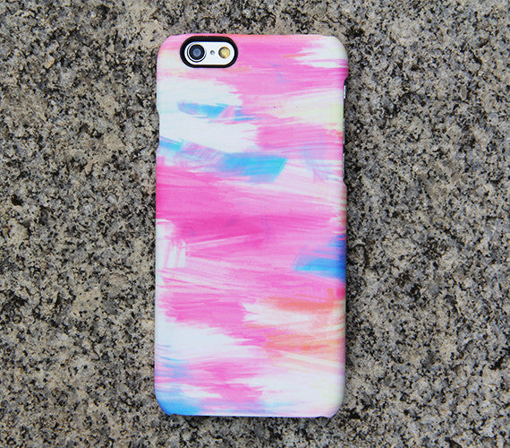 Abstract Pink Blue Painting iPhone 6 Case Galaxy s6 Edge Plus Case Galaxy s6 Case Samsung Galaxy Note 5 Case s6-055