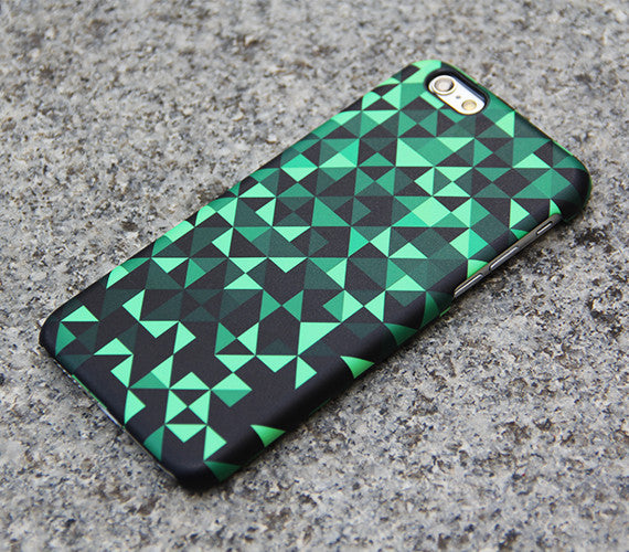 Green Geometric Triangle Samsung Galaxy S7 Edge S7 Case Galaxy S8+  S3 Samsung Note 5/3/2 Cover S7-06 - Apple iPhone Xs/iPhone Xr case by Retina Designs