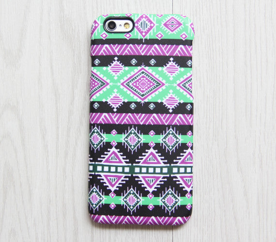 Pink Green Ethnic iPhone XR 6 iPhone XS Max plus Case Ethnic iPhone 8 SE iPhone 4 Case Tribal Samsung Galaxy S8 S6  Case 075 - Apple iPhone Xs/iPhone Xr case by Retina Designs