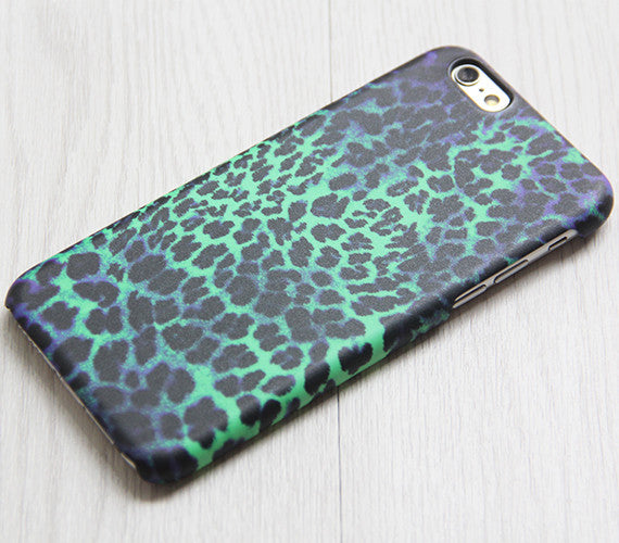 Turquoise Purple Leopard Pattern iPhone XR 6 plus Case Ethnic iPhone 8 SE iPhone 4 Case Animal Galaxy S8 S6  Case 076 - Apple iPhone Xs/iPhone Xr case by Retina Designs