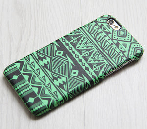 Green Tribal Pattern iPhone XS Max iPhone XS Max plus Case Ethnic iPhone 8 SE  Case Retro Samsung Galaxy S8 S6  Case 078 - Retina Designs