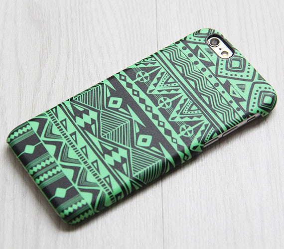 Green Tribal Pattern iPhone 6 iPhone 6 plus Case Ethnic iPhone 5S 5 iPhone 5C iPhone 4S Case Retro Samsung Galaxy S6 edge S6 S5 S4 Case 078