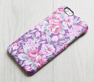 Pink Floral Samsung Galaxy S7 Edge S7 Case Galaxy S8+  S3 Samsung Note 5/3/2 Cover S7-080