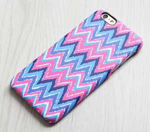 Pink Blue Chevron iPhone XR Case iPhone XS Max plus Ethnic iPhone 8 SE  Case Colorful Samsung Galaxy S8 S6  Case 081 - Apple iPhone Xs/iPhone Xr case by Retina Designs
