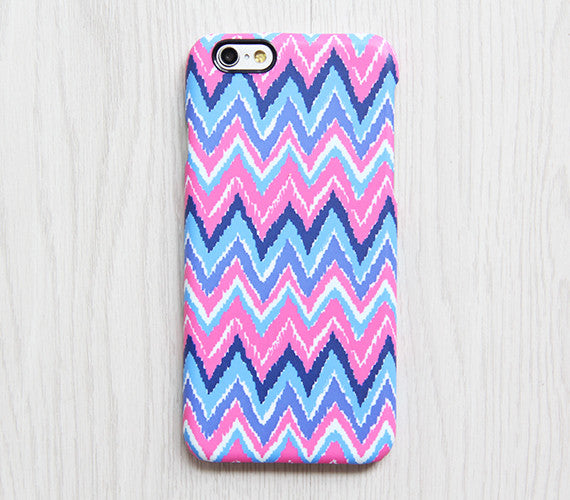 Pink Blue Chevron iPhone 6s Case iPhone 6 plus Ethnic iPhone 5S 5 iPhone 5C iPhone 4S Case Colorful Samsung Galaxy S6 edge S6 S5 S4 Case 081