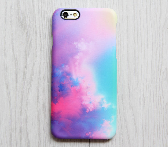 galaxy iphone 5s case pastel pink turquoise abstract sky galaxy s6 edge plus 4785
