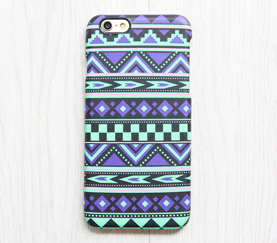 Violet Green Tribal Ethnic Aztec Turquoise Galaxy S8 Plus Case Galaxy S7 Case Samsung Galaxy Note 5  Phone Case s6-084 - Apple iPhone Xs/iPhone Xr case by Retina Designs
