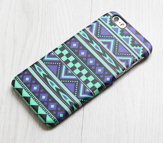 Violet Green Tribal iPhone XR case iPhone XS Max plus Ethnic iPhone 8 SE  Case Aztec Samsung Galaxy S8 S6  Case 084 - Apple iPhone Xs/iPhone Xr case by Retina Designs