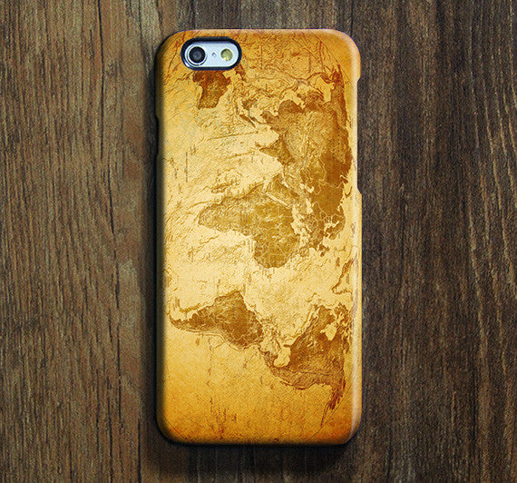 World Map Continent iPhone XS Max Galaxy S8 Case  Case Samsung Galaxy Note 5 Case s6-086 - Apple iPhone Xs/iPhone Xr case by Retina Designs