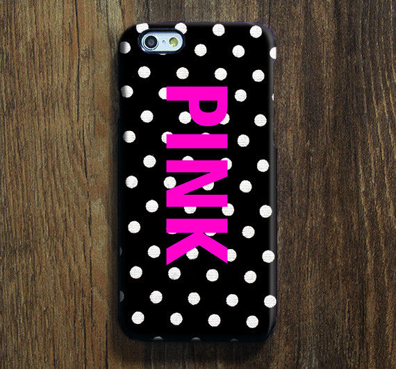 Pink Polka iPhone XS Max Galaxy S8 Case  Case Samsung Galaxy Note 5 Case s6-087 - Apple iPhone Xs/iPhone Xr case by Retina Designs