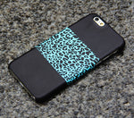 Turquoise Leopard iPhone XS Max iPhone XS Max plus iPhone 8 SE  Black Samsung Galaxy S8 S6  Note 3 Case Animal Print 09
