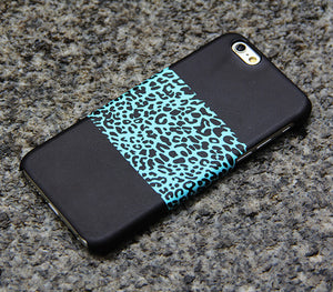Turquoise Leopard iPhone XS Max iPhone XS Max plus iPhone 8 SE  Black Samsung Galaxy S8 S6  Note 3 Case Animal Print 09 - Apple iPhone Xs/iPhone Xr case by Retina Designs