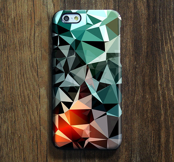 Green Triangle Geometric iPhone 6s Case iPhone 6s Plus Case iPhone 6 Cover iPhone 5S 5 iPhone 5C Samsung Galaxy S6 Edge Galaxy s6 s5 s4 Galaxy Note 5 Note 4 Case 131