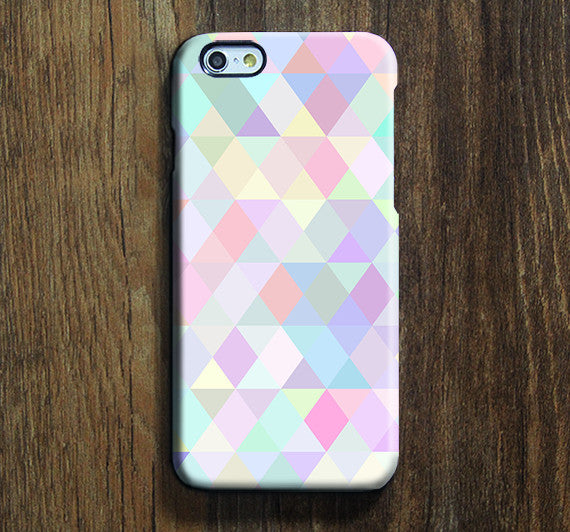 Pastel Color Triangle iPhone 6s Case iPhone 6s Plus Case iPhone 6 Cover iPhone 5S 5 iPhone 5C Samsung Galaxy S6 Edge Galaxy s6 s5 s4 Galaxy Note 5 Note 4 Case 133