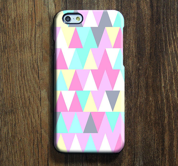 Colorful Triangle  iPhone 6s Case iPhone 6s Plus Case iPhone 6 Cover iPhone 5S 5 iPhone 5C Samsung Galaxy S6 Edge Galaxy s6 s5 s4 Galaxy Note 5ÌâåÊNote 4 Case 135