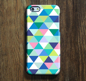 Blue Green Triangle iPhone XR Case Galaxy S8 Case iPhone XS Max Cover iPhone 8 SE Samsung Galaxy S8   Galaxy Note case 137 - Apple iPhone Xs/iPhone Xr case by Retina Designs